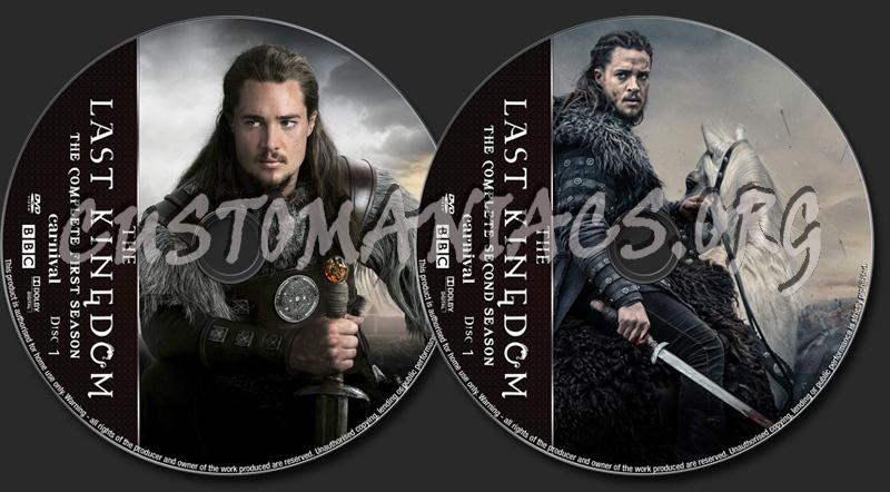 The Last Kingdom Seasons 1-2 dvd label