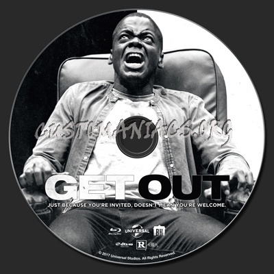 Get Out blu-ray label