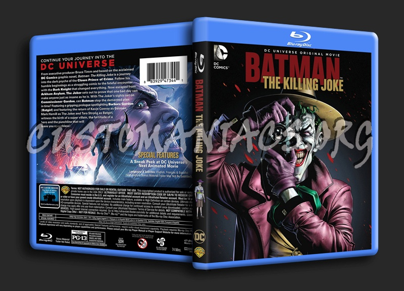 Batman the Killing blu-ray cover