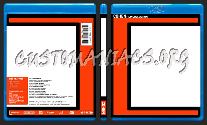 Cohen (2016) Blu-ray Template dvd label