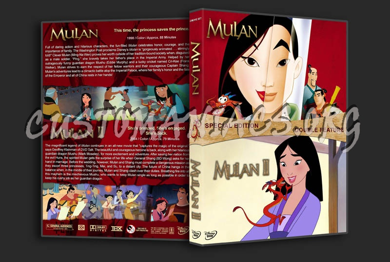 Mulan Double Feature dvd cover