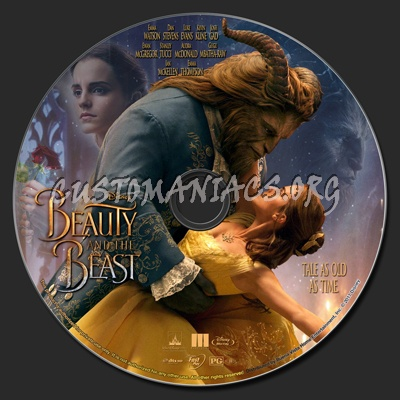 Beauty And The Beast (2017) blu-ray label