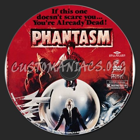 Phantasm Remastered 1 dvd label