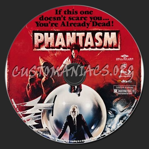 Phantasm Remastered 1 blu-ray label