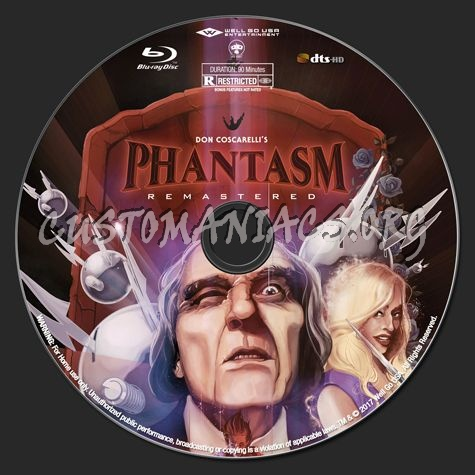 Phantasm Remastered I blu-ray label