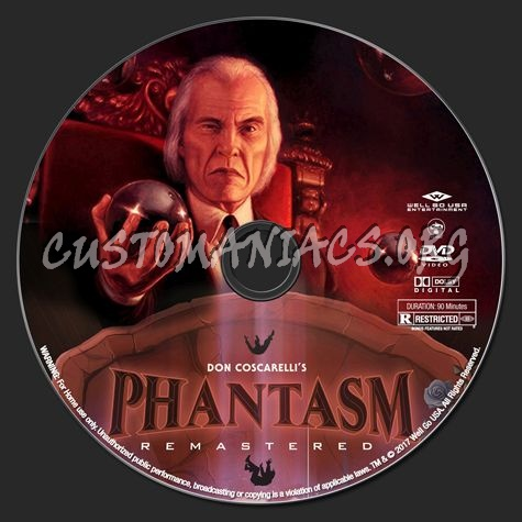 Phantasm Remastered I dvd label