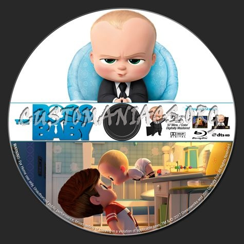 The Boss Baby blu-ray label