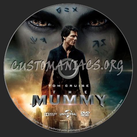 The Mummy (2017) dvd label