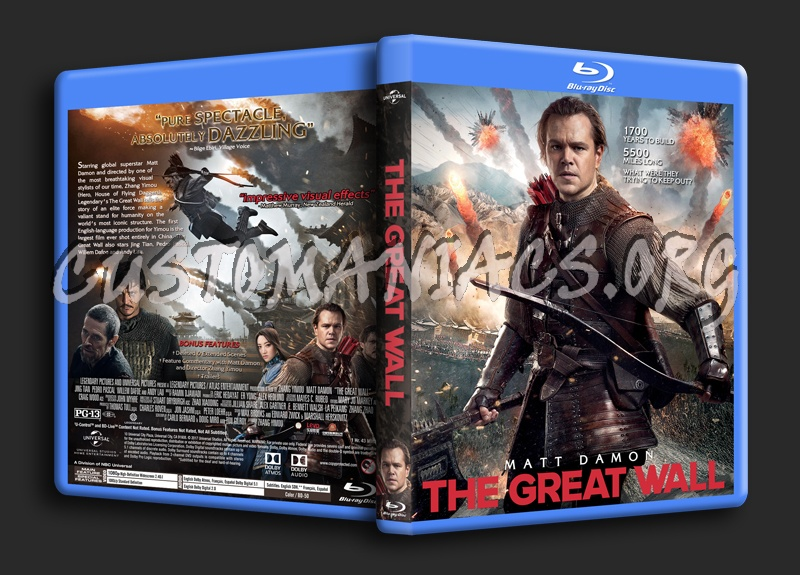 The Great Wall blu-ray cover