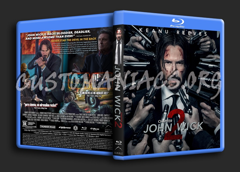 John Wick: Chapter 2 blu-ray cover