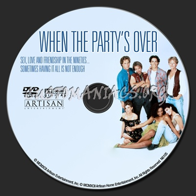 When the Party's Over dvd label