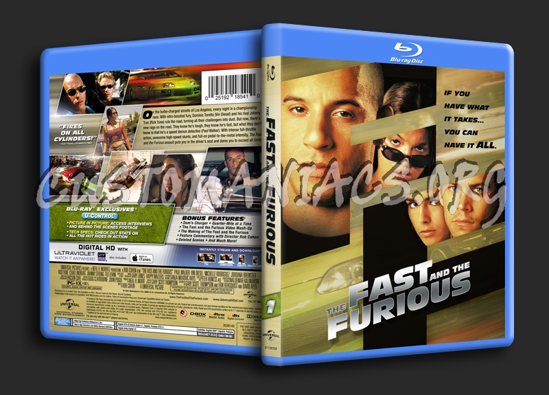 Fast & Furious Collection: The Fast and the Furious blu-ray cover