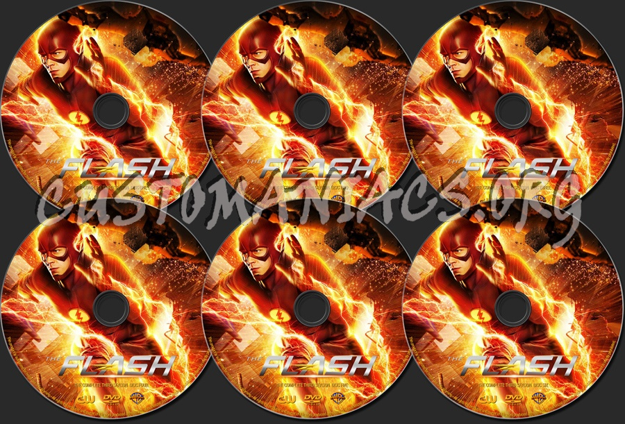 The Flash Season 3 dvd label