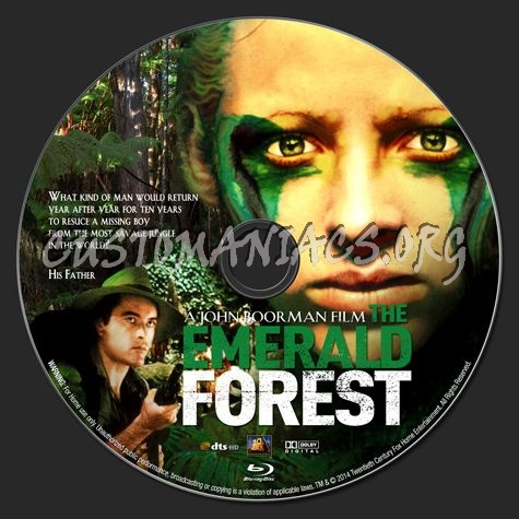 The Emerald Forest (1985) blu-ray label