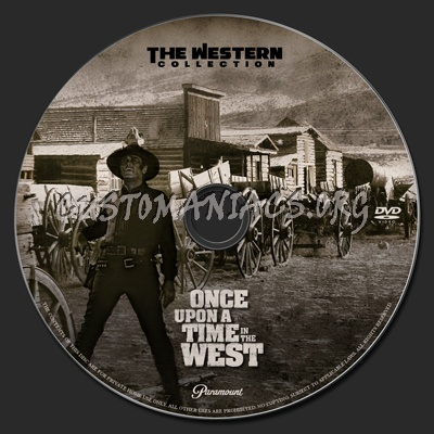 Once Upon a Time in the West dvd label
