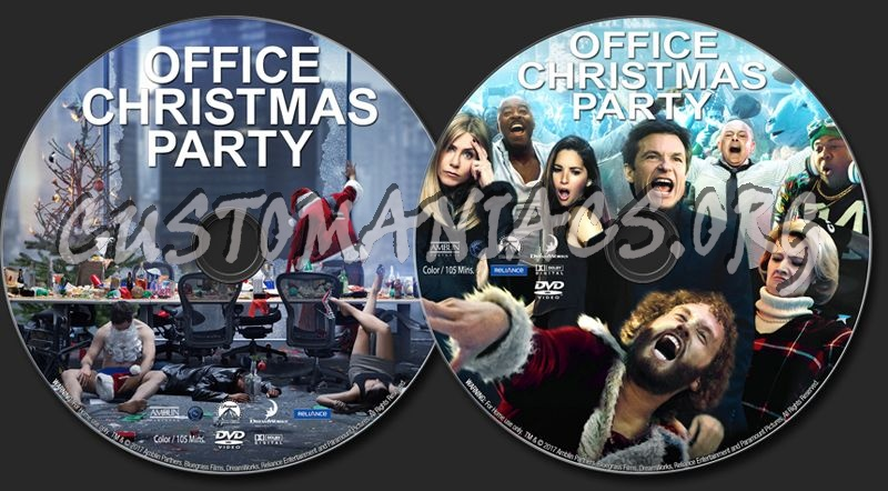 office christmas party 2016 dvd label