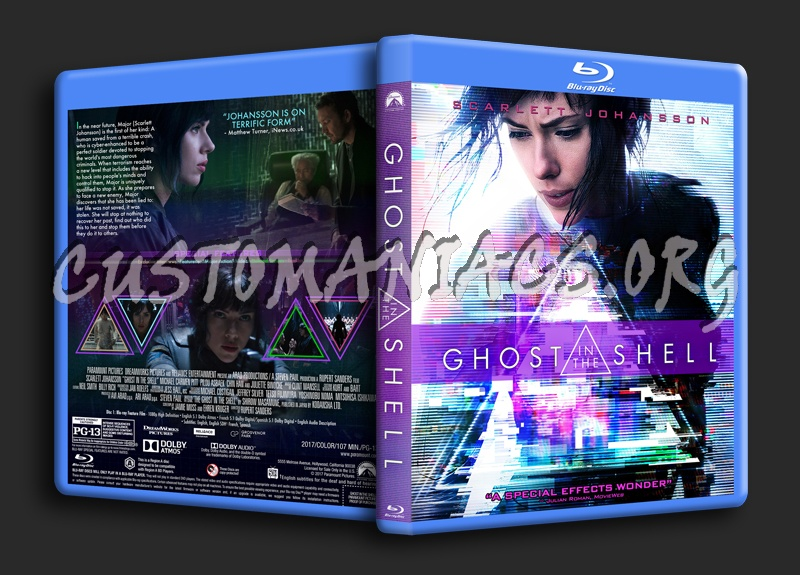 Ghost In The Shell (2017) blu-ray cover
