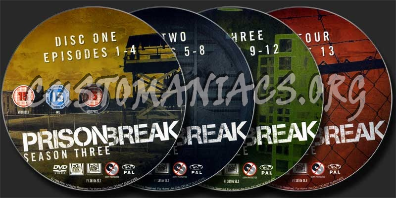 Prison Break Season 3 dvd label
