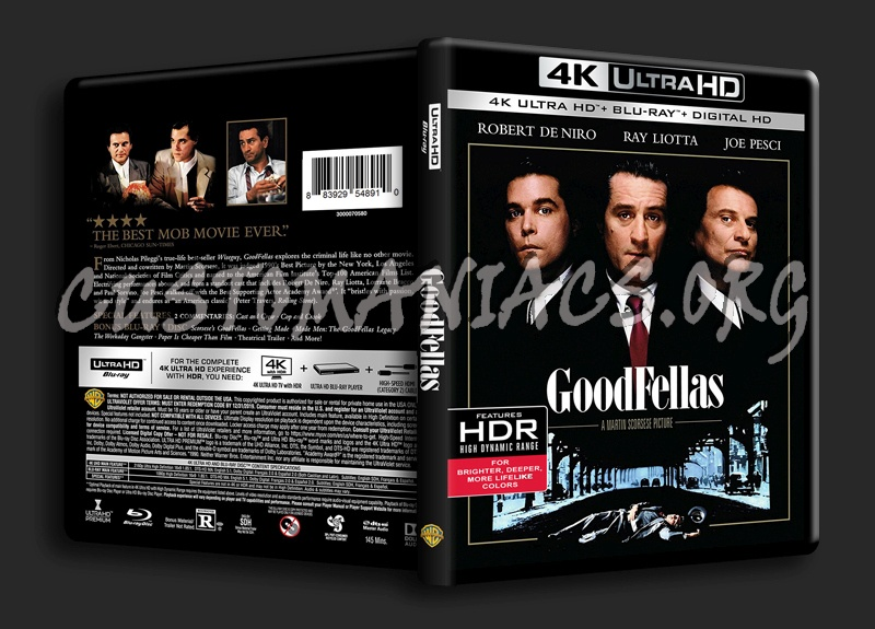Goodfellas 4K blu-ray cover