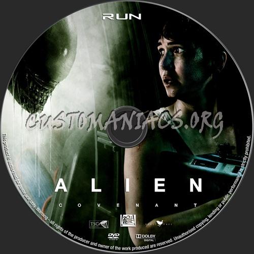 Alien Covenant dvd label