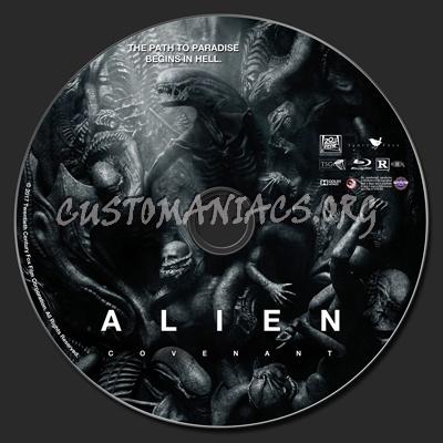 Alien Covenant blu-ray label