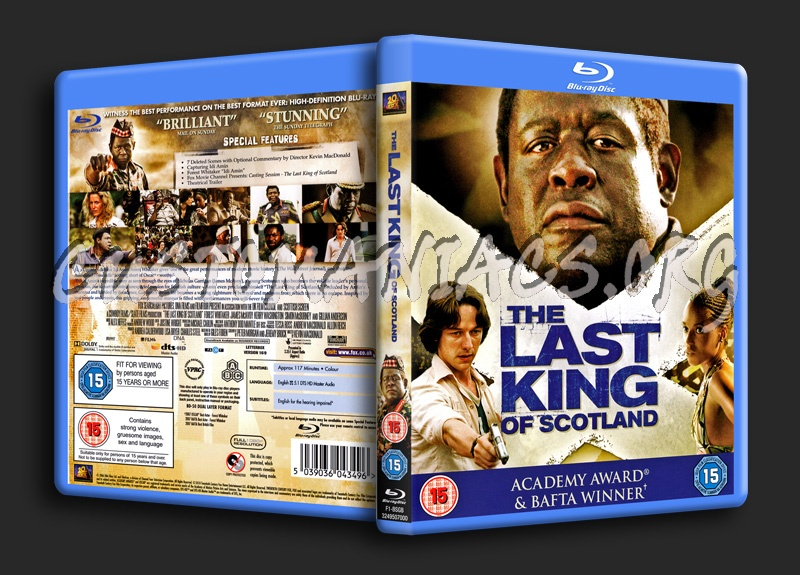 The Last King of Scotland blu-ray cover