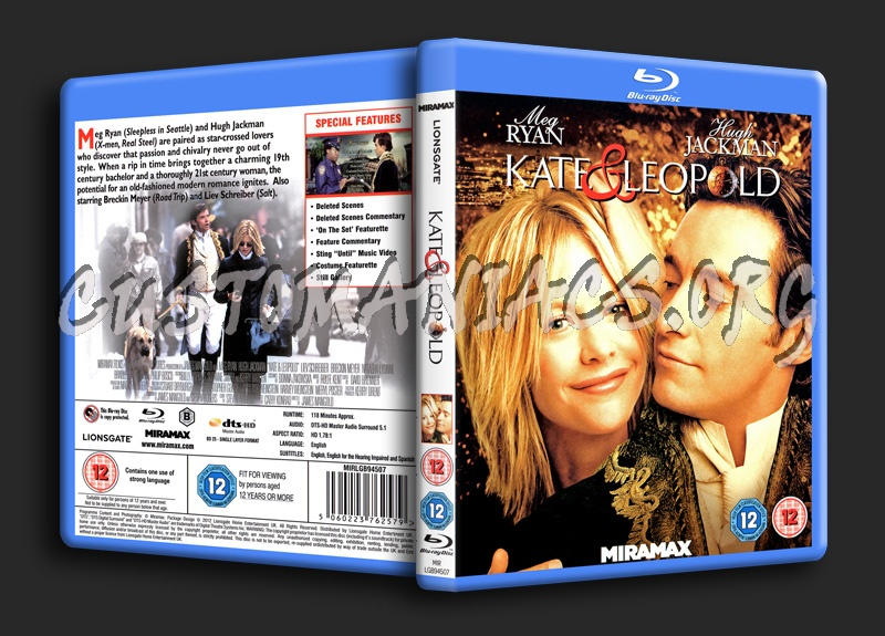 Kate & Leopold blu-ray cover
