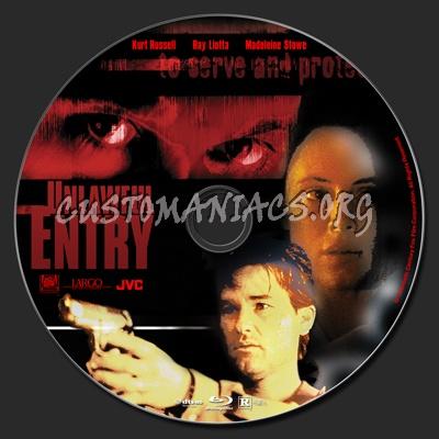 Unlawful Entry (1992) blu-ray label