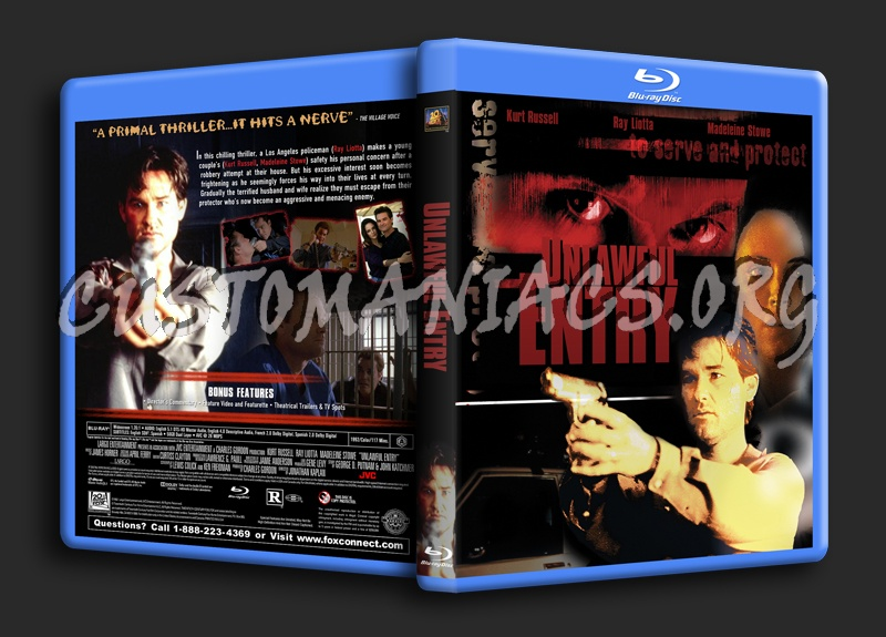 Unlawful Entry (1992) dvd cover