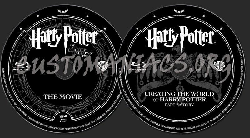 Harry Potter and the Deathly Hallows Part 1 blu-ray label