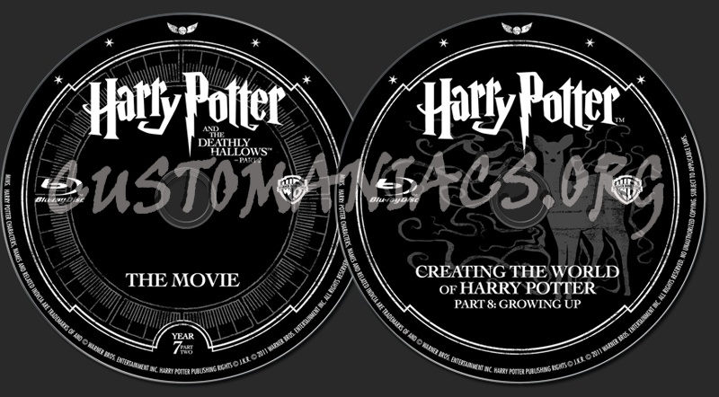 Harry Potter and the Deathly Hallows Part 2 blu-ray label