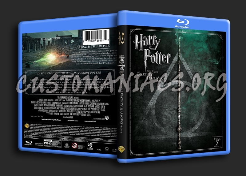 Harry Potter and the Deathly Hallows Part 2 blu-ray cover