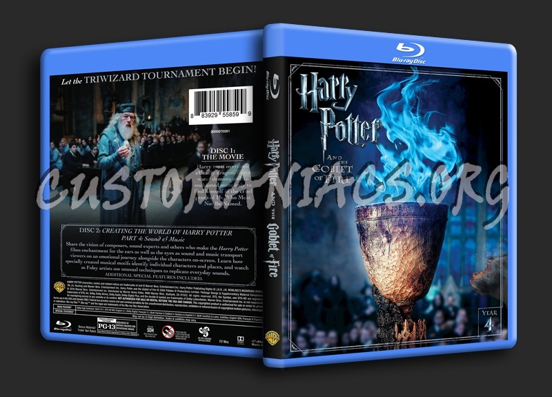 Harry Potter and the Goblet of Fire blu-ray cover