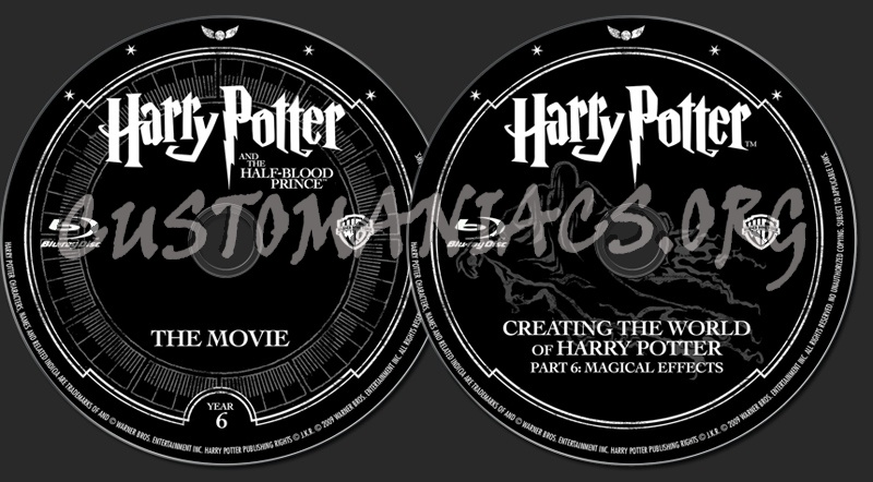 Harry Potter and the Half-blood Prince blu-ray label