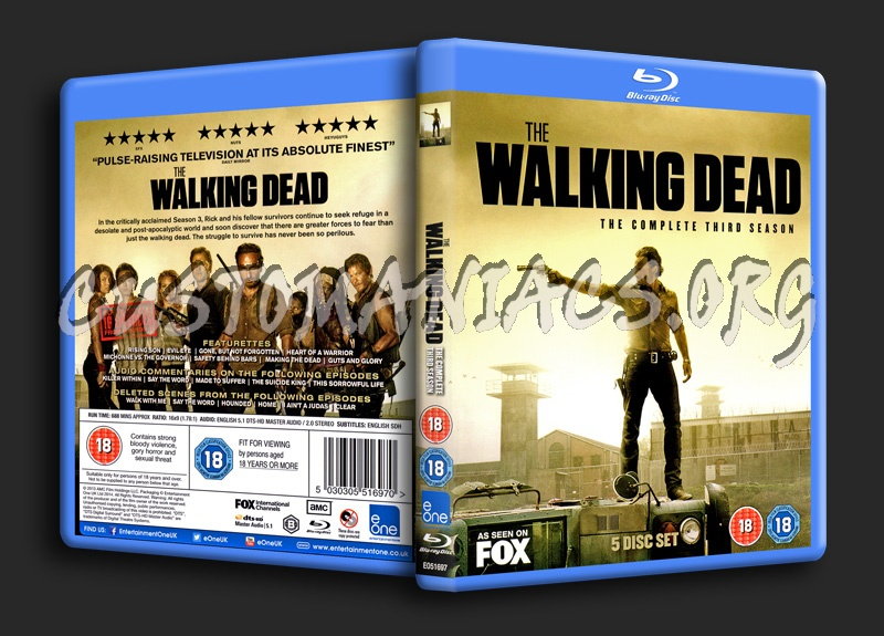 The Walking Dead Season 3 blu-ray cover