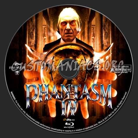 Phantasm Remastered IV blu-ray label
