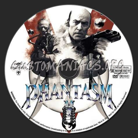 Phantasm Remastered V dvd label