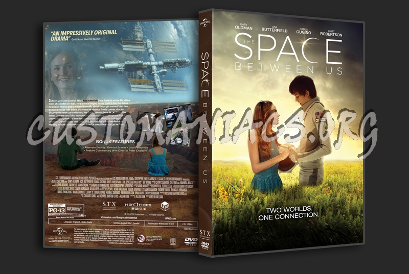 The Space Between Us dvd cover