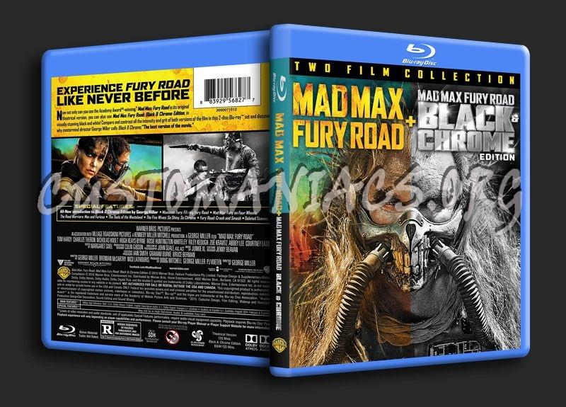 Mad Max Fury Road +  Mad Max Fury Road Black & Chrome blu-ray cover