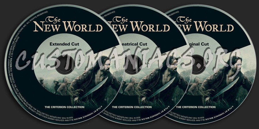826 - The New World dvd label