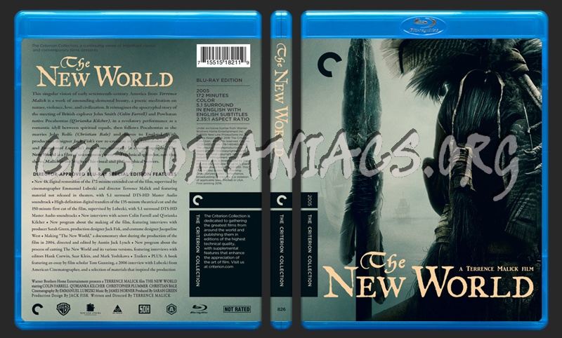826 - The New World blu-ray cover