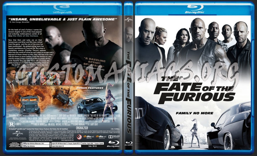 The Fate Of The Furious blu-ray cover