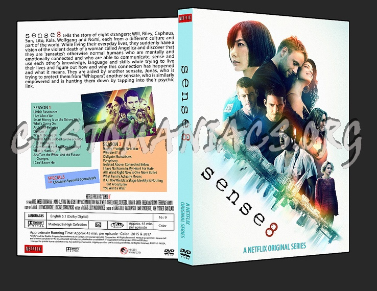 sense8  - Seasons 1 and 2 dvd cover