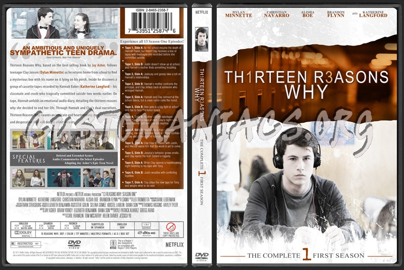 13 Reasons Why Season 1 dvd cover