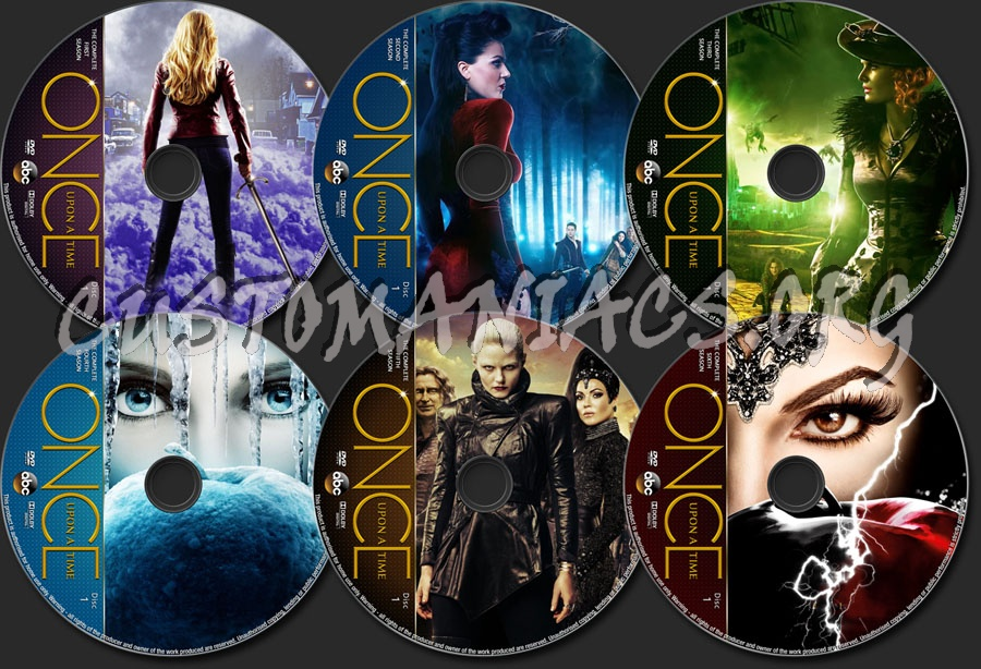 Once Upon A Time Seasons 1-6 dvd label