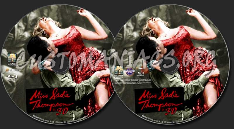 Miss Sadie Thompson in 3D blu-ray label