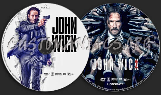 John Wick Collection dvd label