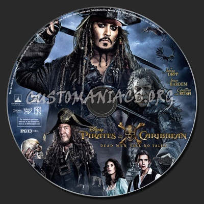 Pirates Of The Caribbean: Dead Men Tell No Tales dvd label