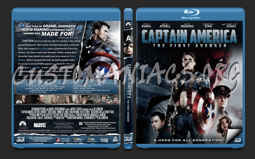 Captain America The First Avenger blu-ray cover