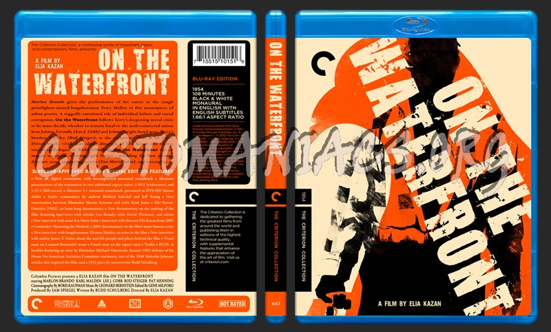 647 - On The Waterfront blu-ray cover